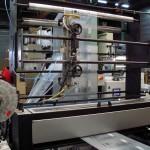 Façonnage sacs imprimés en repéré sur soudeuse coupe-fil