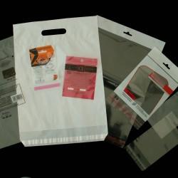 Différents sac pegboard, simple ou renforcé, avec TE, PDS, macro de suspension ou non perforé.